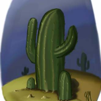 How To Paint Cactus
