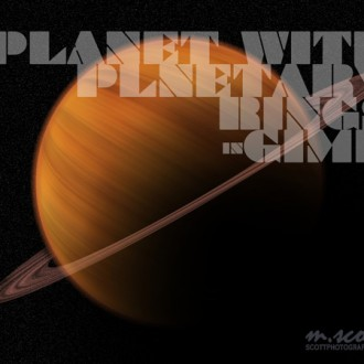 Creating Planets and Planetary Rings in GIMP