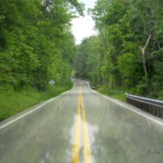 How to create a wet road effect using Gimp