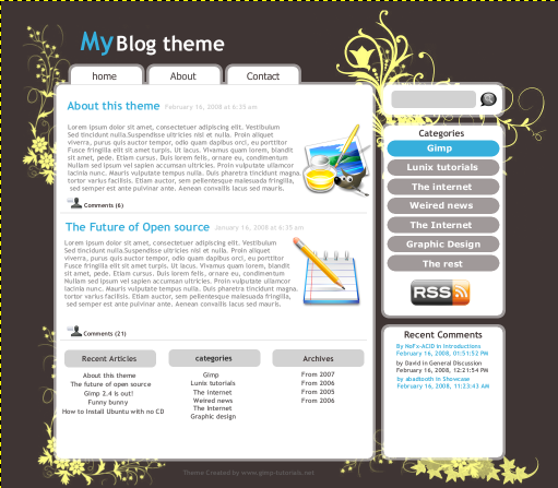 theme blog effigy